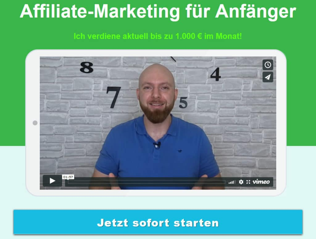 Affiliate Marketing Anfängerkurs