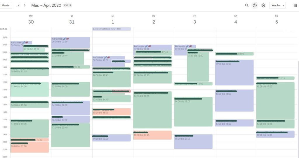 Home Office Tipps - Kalender Planung