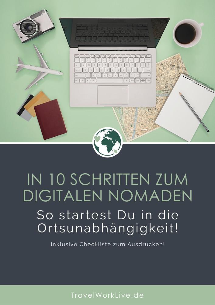 In 10 Schritten zum digitalen Nomaden - E-Book Titelbild