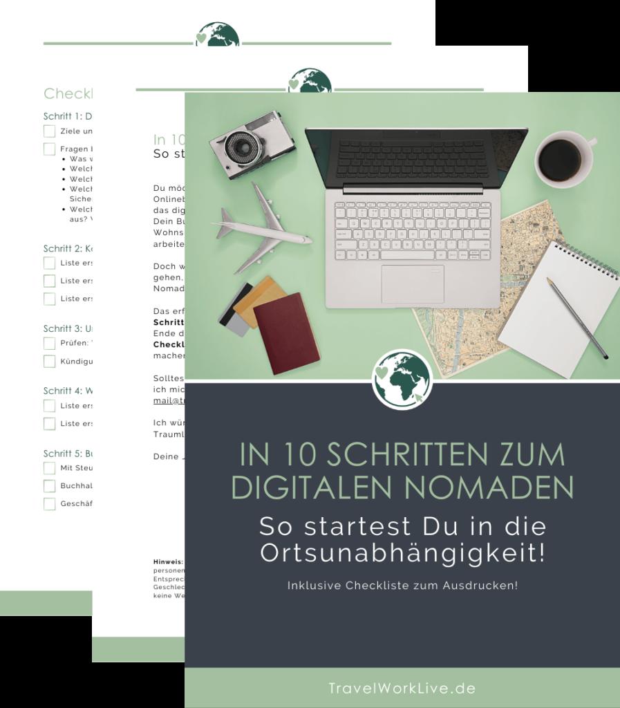 In 10 Schritten zum digitalen Nomaden - E-Book Vorschau