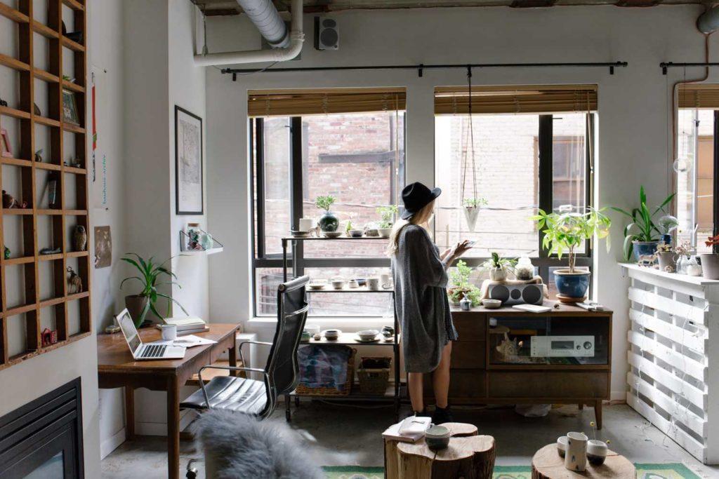 Ortsunabhängig Arbeiten schönes Zuhause