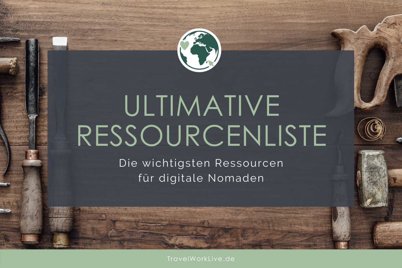Ressourcen-Liste digitale Nomaden Header